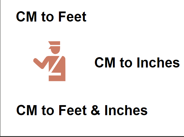 Centimeters to Feet and Inches